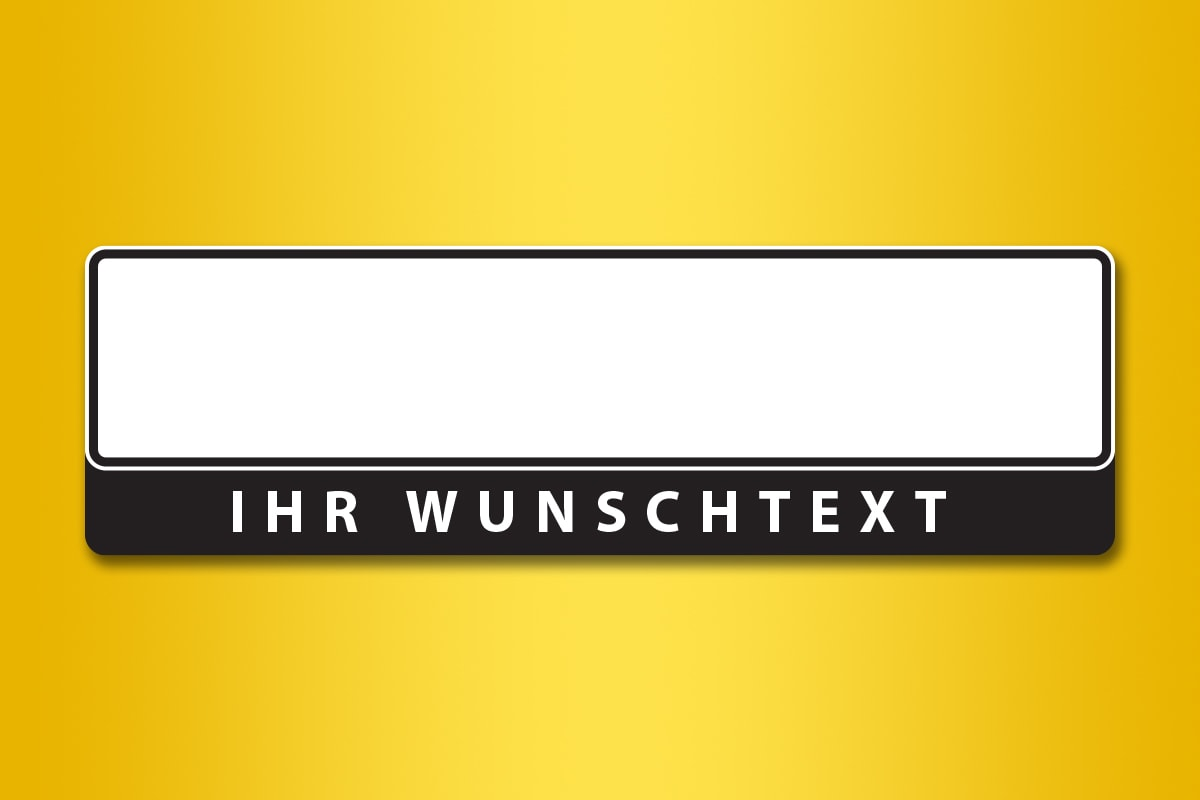 Kennzeichenhalter mit Wunschtext online bestellen