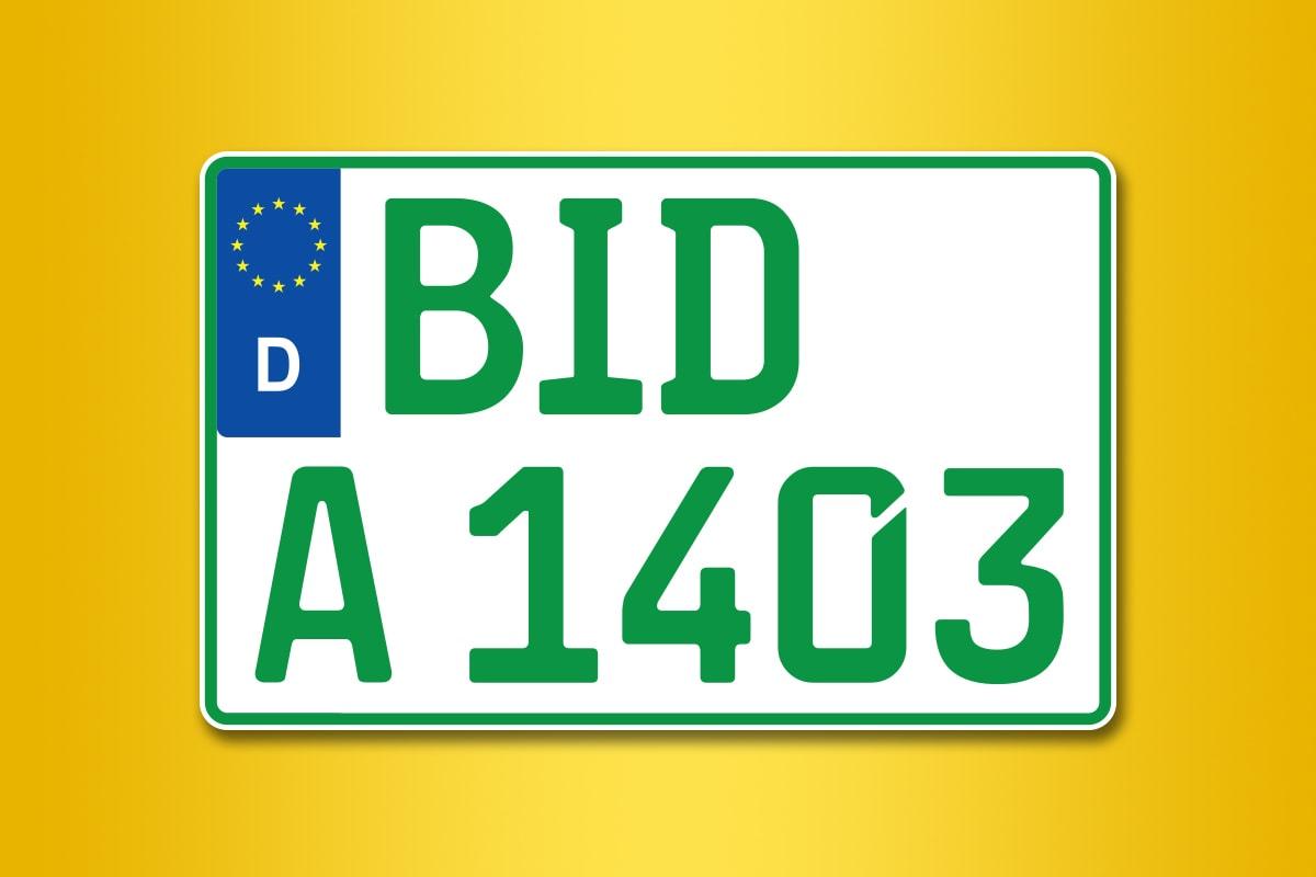 Traktorkennzeichen online bestellen