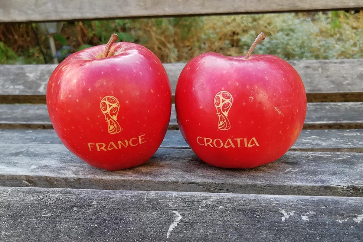 Obst mit Gravur