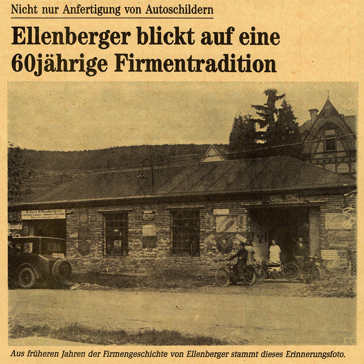 Firma Ellenberger Biedenkopf 1928