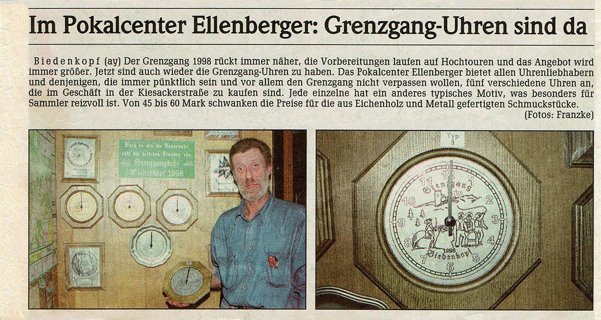 Grenzgang Biedenkopf Uhren bei Ellenberger