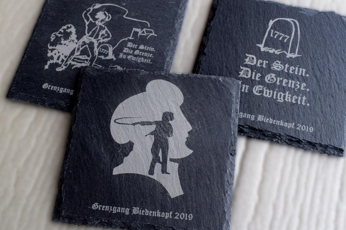 Untersetzer aus Schiefer - Grenzgang Biedenkopf