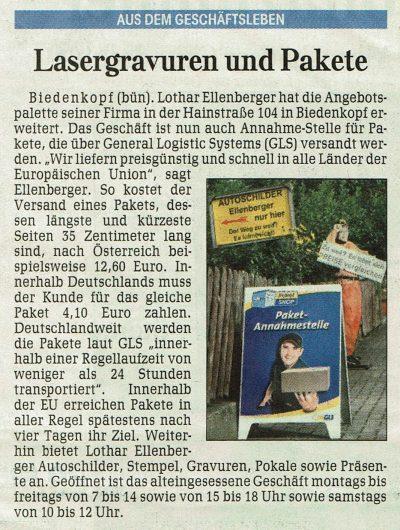 Lasergravur Ellenberger Biedenkopf