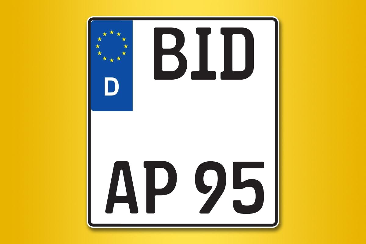 Motorrad-Kennzeichen online bestellen