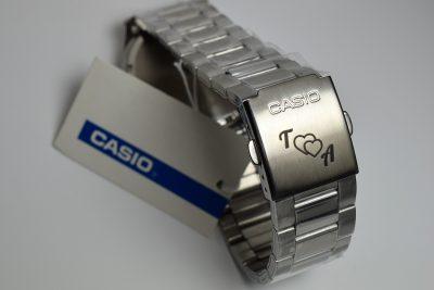 Casio-Uhr mit Gravur personalisiert