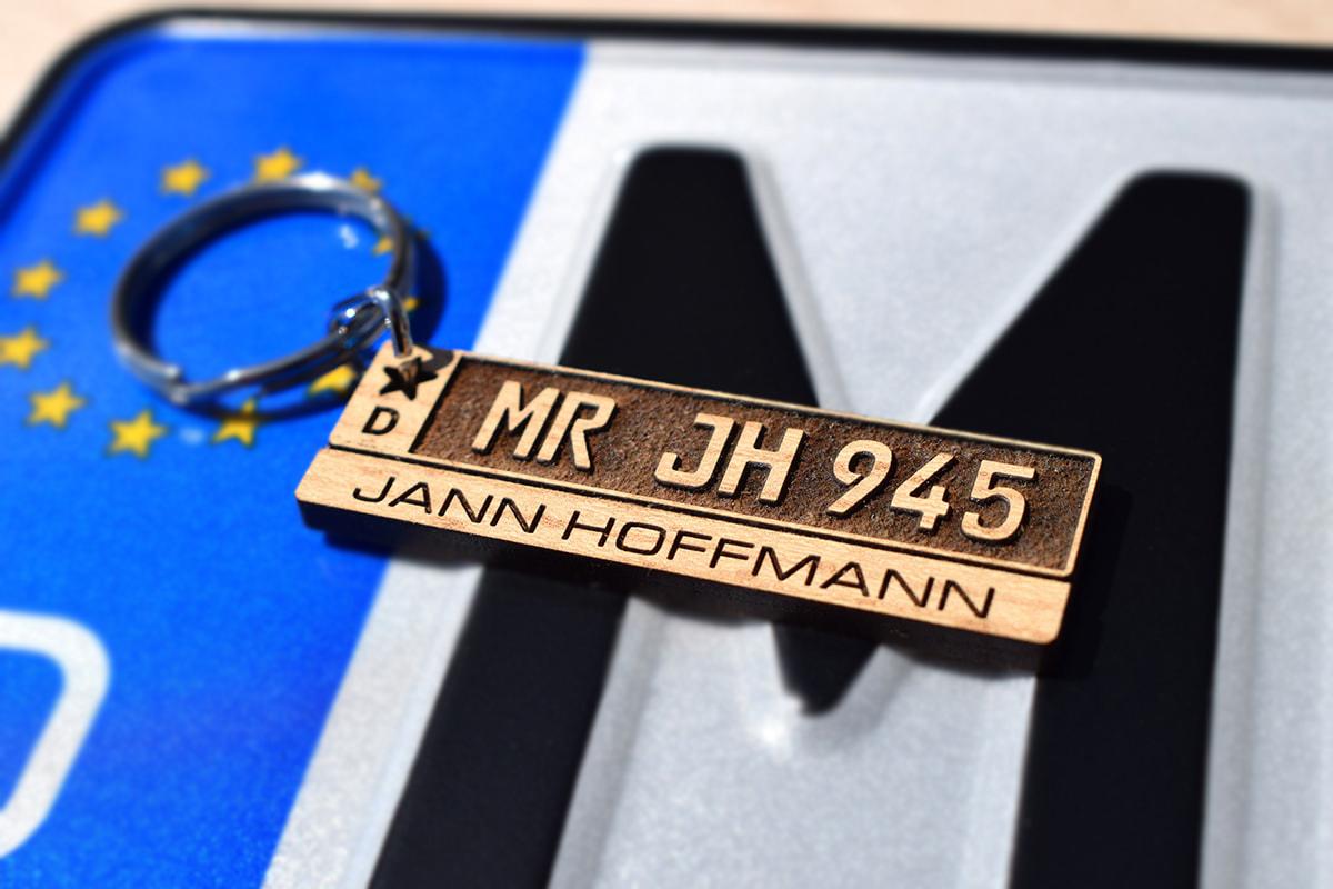 Kfz-Kennzeichen Schlüsselanhänger