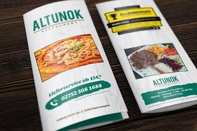 Altunok Grillhaus Pizzeria Flyer