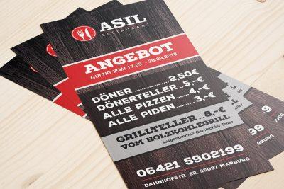 Asil Marburg Restaurant DIN-Lang Flyer