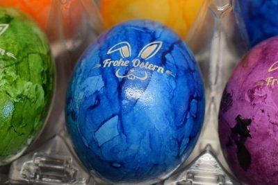 Eier mit Gravur Frohe Ostern