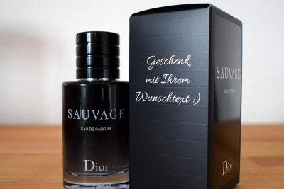 Geschenkbox Dior Sauvage Eau de Parfum gravieren