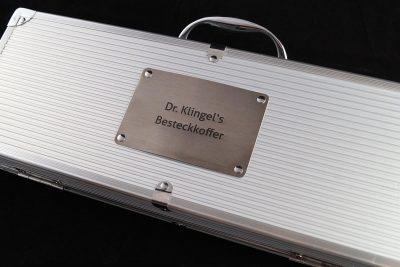 Grillkoffer mit persönlicher Gravur aus Edelstahl