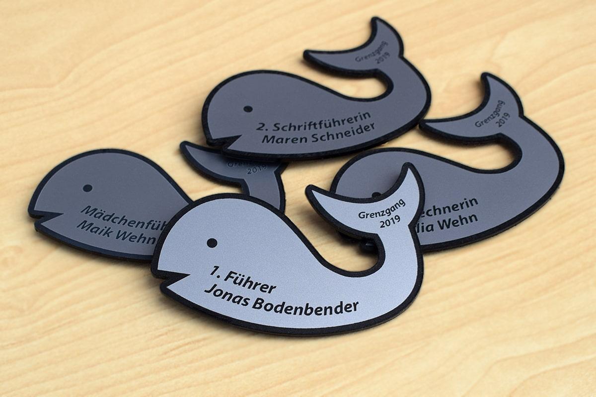 Namensschild in Logoform - Burschenschaft Balbach Biedenkopf