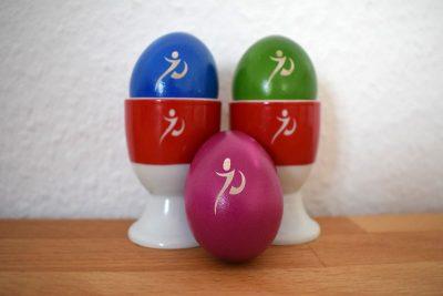 Ostereier mit Logo