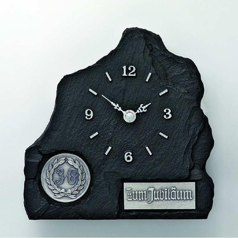 Ellenberger Plaketten Uhr Schiefer 272