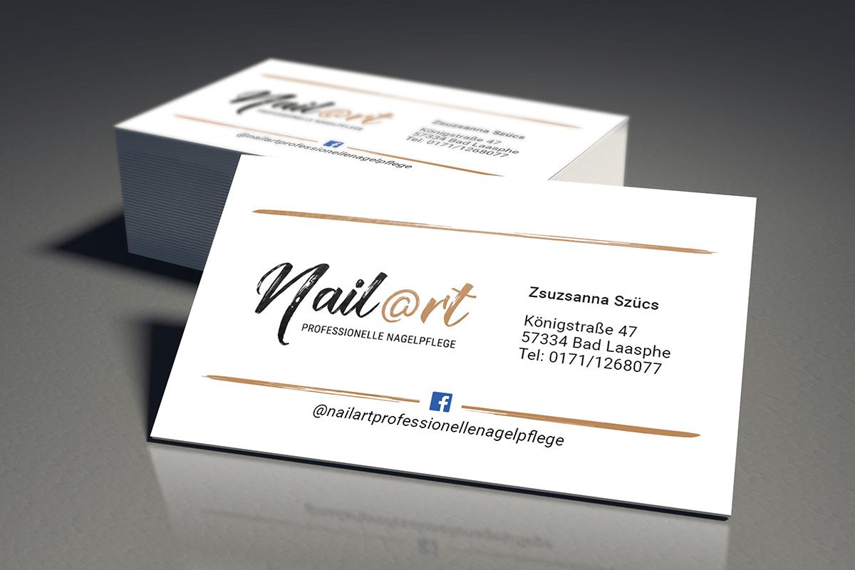 Nailart Nagelpflege Bad Laasphe Visitenkarten