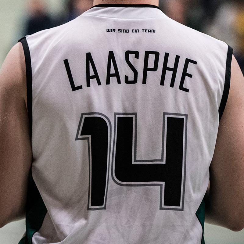 SG Wallau-Laasphe Basketballtrikot weiß hinten