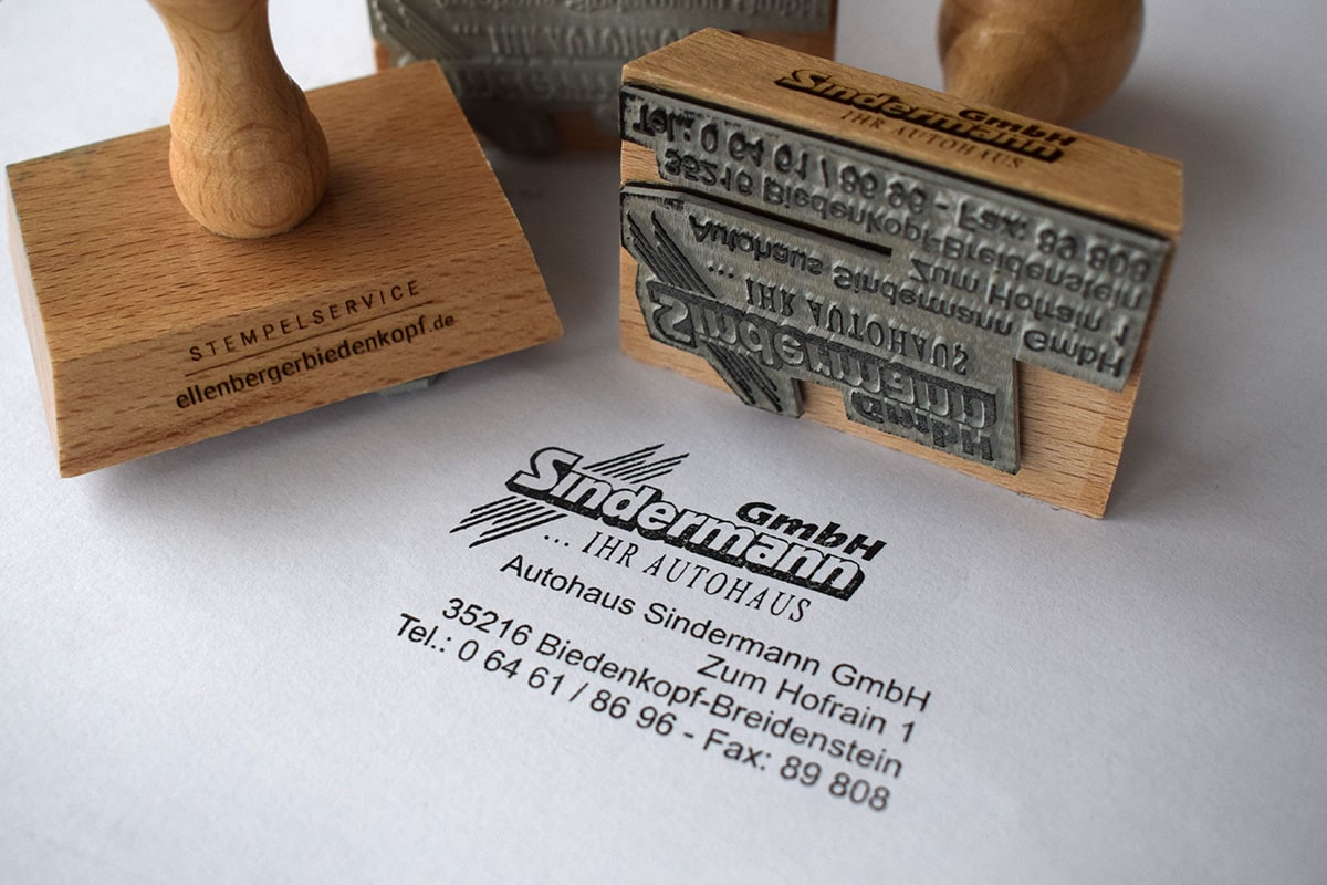 Firmenstempel Autohaus Sindermann